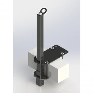 Анкерный столб, боковое крепление (арт. AP-4h)