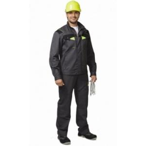 """Костюм """"ХОВАРД"""" : куртка кор., полукомб. темно-серый с черной и лимонной отд"""