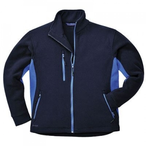 Двухцветная флисовая куртка (Navy)