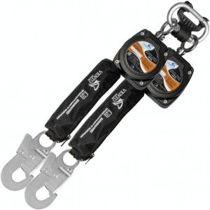 """Двухплечевое блокирующее устройство втягивающего типа """"НВ-02"""" с карабином """"Стальной Монтажный малый"""""""
